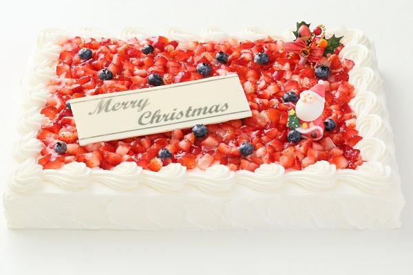 クリスマスケーキ2017 イチゴたっぷりパーティデコレーションケーキ 30×30cmの画像3枚目