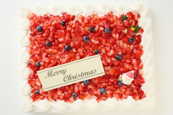 クリスマスケーキ2017 イチゴたっぷりパーティデコレーションケーキ 30×30cmの画像4枚目