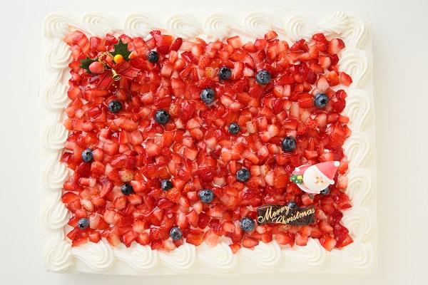 クリスマスケーキ2017 イチゴたっぷりパーティデコレーションケーキ 30×30cmの画像6枚目