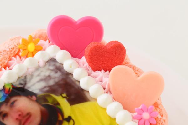 バレンタイン ピンクのビスキュイハ-ト型 苺生クリ-ム 5号 15cmの画像8枚目