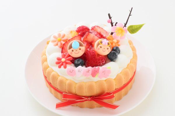 乳幼児向け(初節句にも)ヨーグルトケーキ 4号 12cm ひなまつり限定の画像1枚目