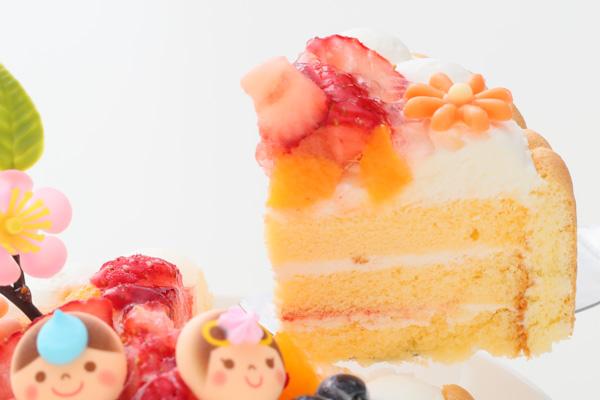 乳幼児向け(初節句にも)ヨーグルトケーキ 4号 12cm ひなまつり限定の画像3枚目
