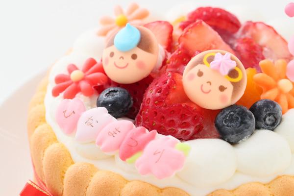 乳幼児向け(初節句にも)ヨーグルトケーキ 4号 12cm ひなまつり限定の画像7枚目
