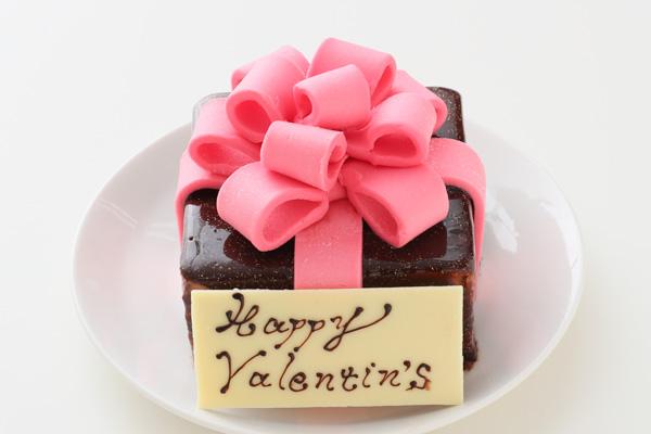 バレンタイン限定 プレゼントボックスケーキ 9×9cmの画像1枚目