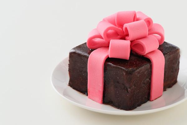 バレンタイン限定 プレゼントボックスケーキ 9×9cmの画像10枚目