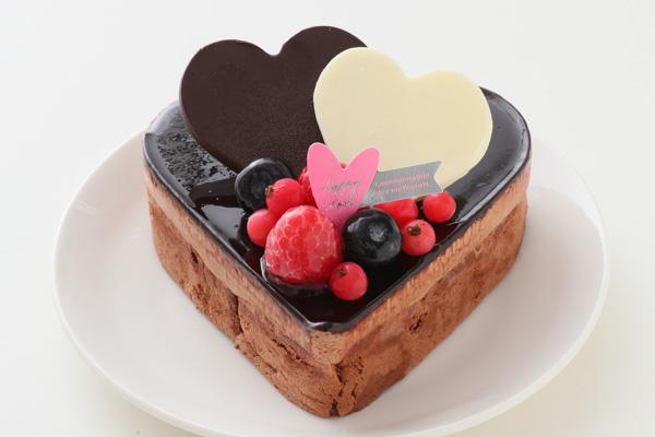 バレンタイン ハートチョコレートケーキ 4号 12cmの画像1枚目