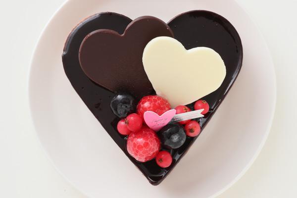 バレンタイン ハートチョコレートケーキ 4号 12cmの画像2枚目