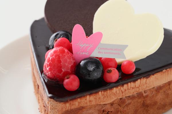 バレンタイン ハートチョコレートケーキ 4号 12cmの画像7枚目