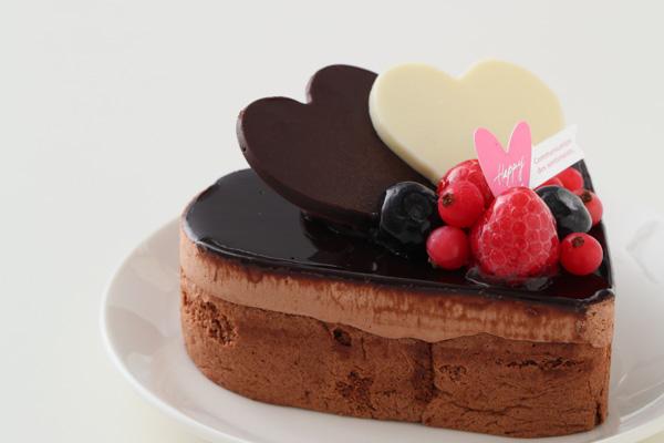 バレンタイン ハートチョコレートケーキ 4号 12cmの画像8枚目