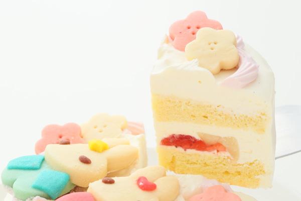 卵・乳除去可能 国産小麦粉と安心材料*うさぎのおひなさまケーキ 4号 12cmの画像3枚目