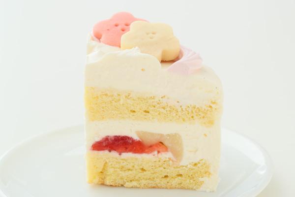 卵・乳除去可能 国産小麦粉と安心材料*うさぎのおひなさまケーキ 4号 12cmの画像4枚目