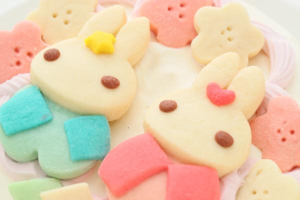 卵・乳除去可能 国産小麦粉と安心材料*うさぎのおひなさまケーキ 4号 12cmの画像6枚目