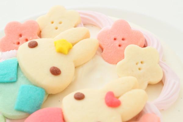 卵・乳除去可能 国産小麦粉と安心材料*うさぎのおひなさまケーキ 4号 12cmの画像7枚目