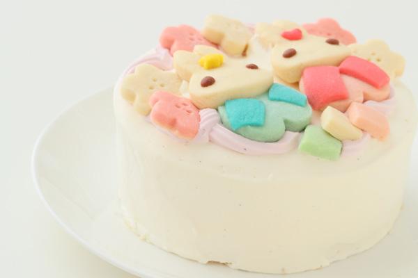 卵・乳除去可能 国産小麦粉と安心材料*うさぎのおひなさまケーキ 4号 12cmの画像9枚目