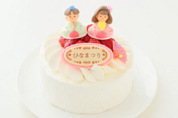 ひなまつりのイチゴ生デコレーションケーキ 5号 15cmの画像1枚目