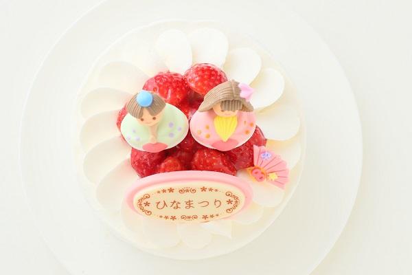 ひなまつりのイチゴ生デコレーションケーキ 5号 15cmの画像2枚目