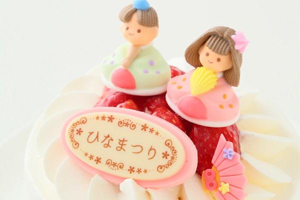 ひなまつりのイチゴ生デコレーションケーキ 5号 15cmの画像8枚目