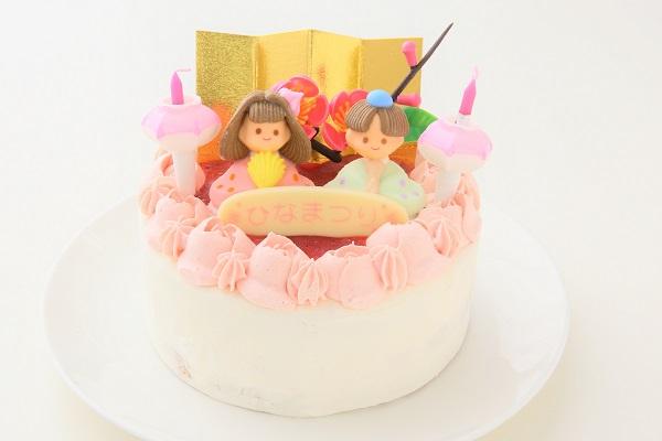 お野菜畑のお雛様ケーキ(ヨーグルトクリーム) 4号 12cmの画像1枚目