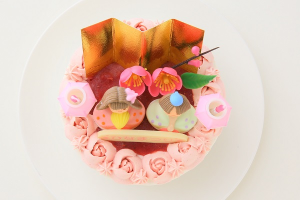 お野菜畑のお雛様ケーキ(ヨーグルトクリーム) 4号 12cmの画像2枚目