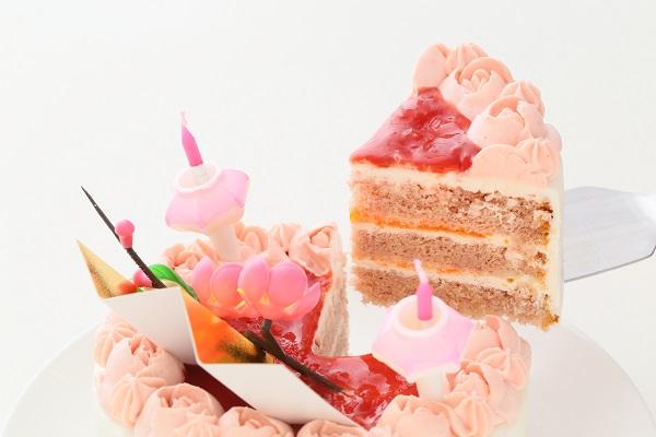 お野菜畑のお雛様ケーキ(ヨーグルトクリーム) 4号 12cmの画像3枚目