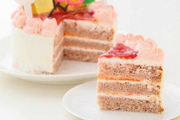 お野菜畑のお雛様ケーキ(ヨーグルトクリーム) 4号 12cmの画像5枚目