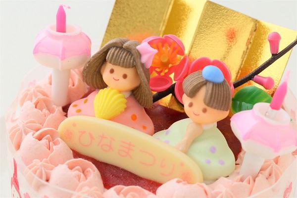 お野菜畑のお雛様ケーキ(ヨーグルトクリーム) 4号 12cmの画像6枚目