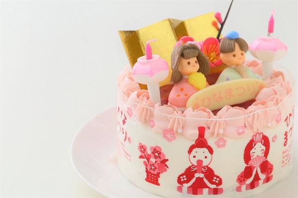 お野菜畑のお雛様ケーキ(ヨーグルトクリーム) 4号 12cmの画像8枚目