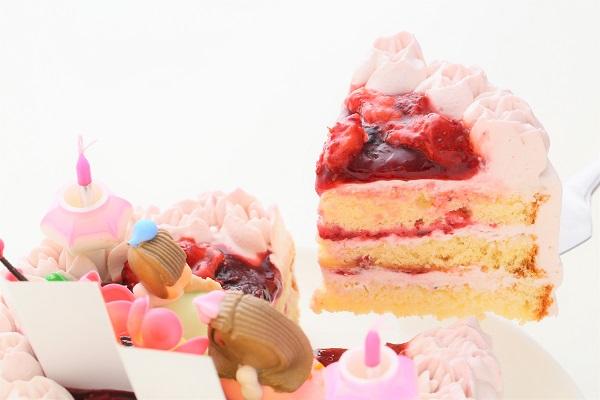 ミックスベリーの桃色お雛様ケーキ 5号 15cmの画像3枚目
