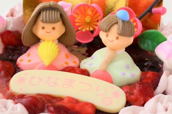 ミックスベリーの桃色お雛様ケーキ 5号 15cmの画像6枚目