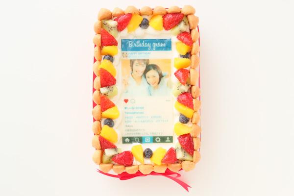 インスタグラム風フレームの写真ケーキ 23cm×15cm×6cmの画像1枚目