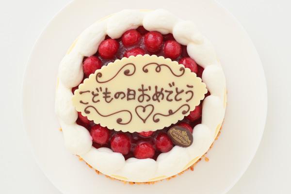 こどもの日 最高級洋菓子 シュス木苺レアチーズケーキ15cm 記念日プレートセット の画像2枚目