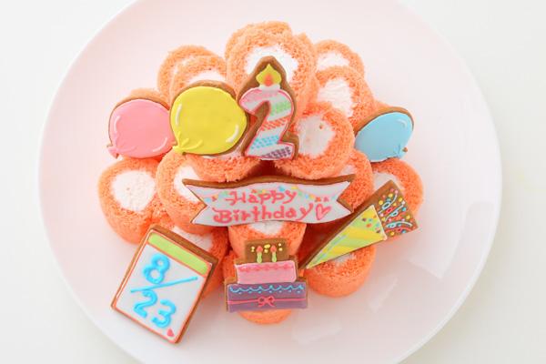 アイシングクッキー付きロールケーキタワー の画像2枚目