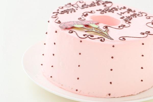 母の日 お手紙ケーキ カーネーション ピンク  直径17cmの画像10枚目
