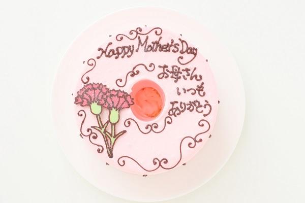 母の日 お手紙ケーキ カーネーション ピンク  直径17cmの画像2枚目