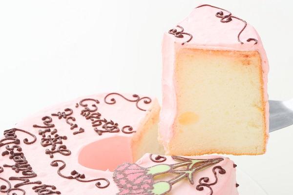 母の日 お手紙ケーキ カーネーション ピンク  直径17cmの画像3枚目