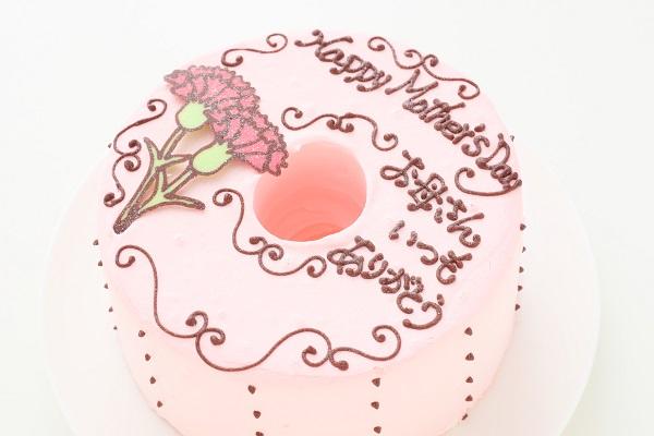 母の日 お手紙ケーキ カーネーション ピンク  直径17cmの画像6枚目