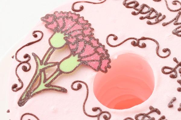 母の日 お手紙ケーキ カーネーション ピンク  直径17cmの画像7枚目