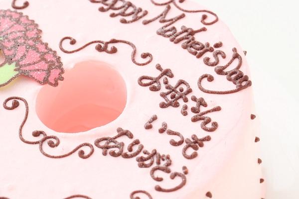 母の日 お手紙ケーキ カーネーション ピンク  直径17cmの画像8枚目