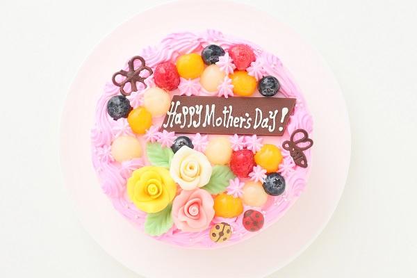 母の日 お花畑のケーキ 5号 15cmの画像2枚目