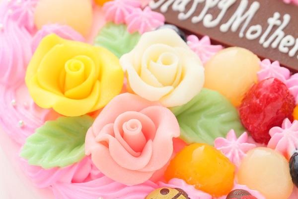 母の日 お花畑のケーキ 5号 15cmの画像7枚目
