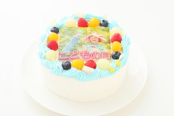 こどもの日 メッセージが入る写真ケーキ 5号 15cmの画像2枚目