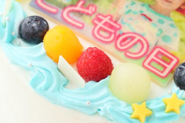 こどもの日 メッセージが入る写真ケーキ 5号 15cmの画像7枚目