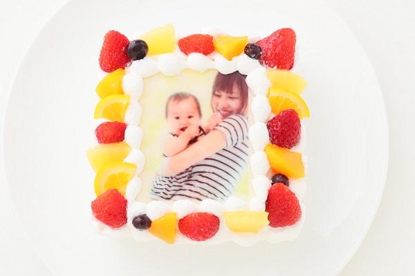 写真ケーキ グルテンフリーケーキ生クリーム 4号 12cmの画像1枚目
