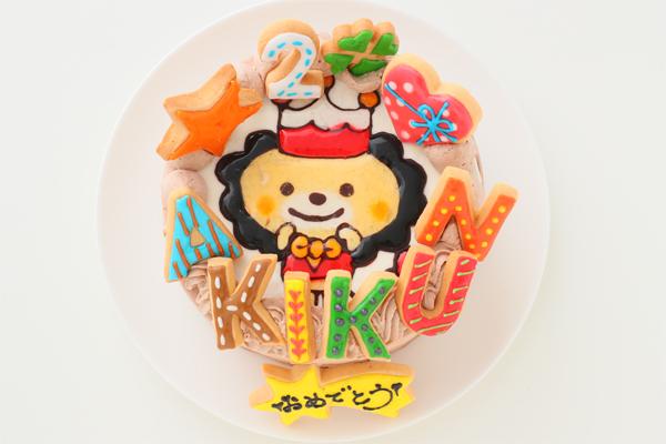 イラストアイシングケーキ 生チョコクリーム 4号 12cmの画像1枚目