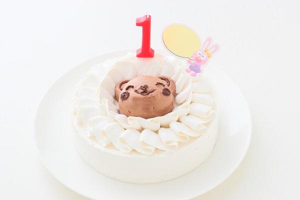 熊チョコムース野菜ファーストバースデーケーキ
