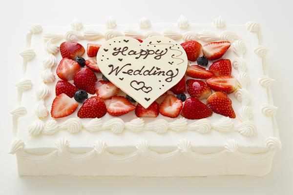 イチゴたっぷりパーティデコレーションケーキ 30×20cm の画像1枚目