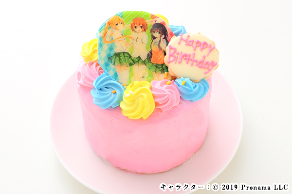 Newフォトケーキ 3号 ピンク 生クリーム 9cm