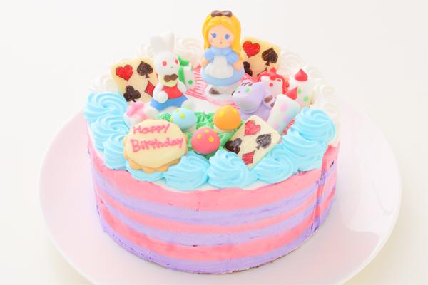 可愛いアリスのギフトケーキ 5号 いちご 生クリーム 15cmの画像1枚目