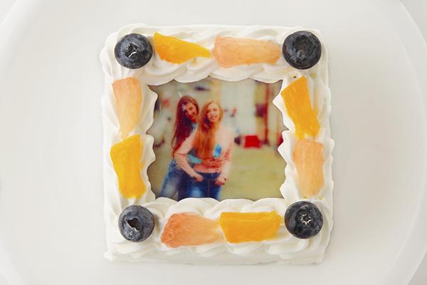 スクエア写真ケーキ 3号 9cm