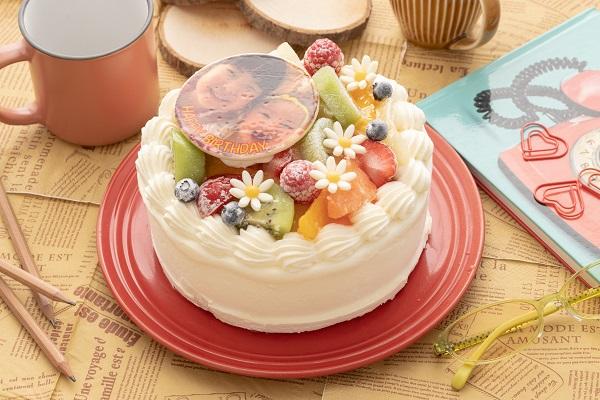 写真ケーキ 7種類の果物をふんだんに使用したフルーツいっぱいショート 6号 18cm